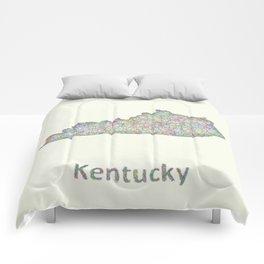 Kentucky map Comforters