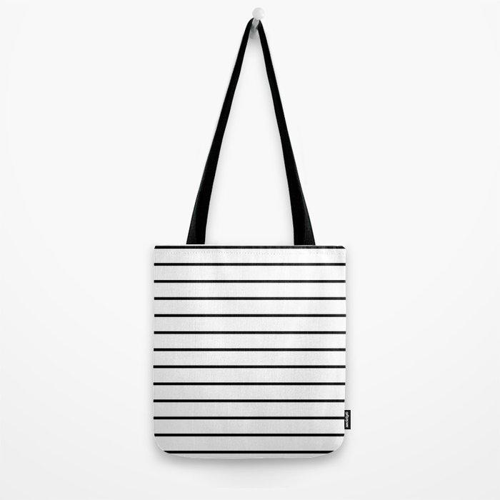 Minimalist Stripes Tote Bag