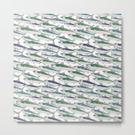 Mackerel pattern Metal Print