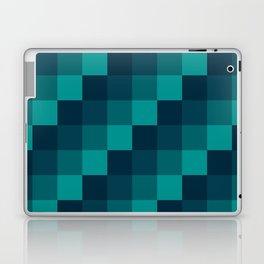 Ocean Waves - Pixel patten in dark blue Laptop & iPad Skin