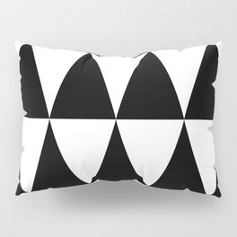 Triangle waves and swirls Pillow Sham