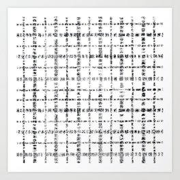 Black and White Plaid Art Print