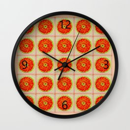 Orange Twirl Wall Clock