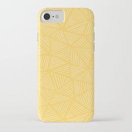 Sunshine Yellow Triangles Drawing iPhone Case