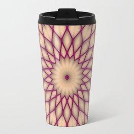 Purple Fishnet Mandala Pattern Travel Mug