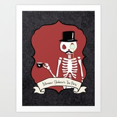 Monsieur Skeleton Art Print