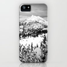 Snowy Mountain Peak Black and White iPhone (5, 5s) Slim Case