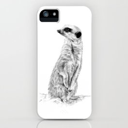 Meerkat in Charge iPhone Case