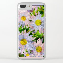 DAISEY MADNESS ABSTRACT  Clear iPhone Case
