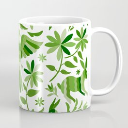 Mexican Otomí Design in Green Coffee Mug
