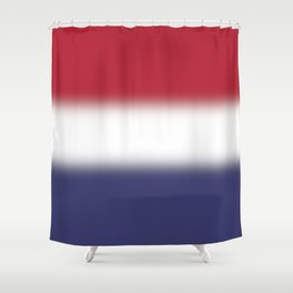 Red White and Blue Gradient Ombré Shower Curtain