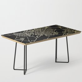 Wilkes-Barre Gold and Black Map Coffee Table