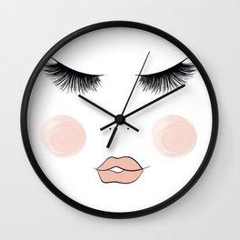 Lashes And Lips Wall Clock