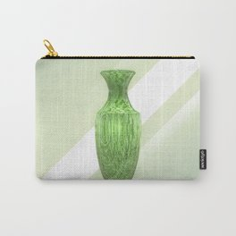 Decorative Green Vase Carry-All Pouch