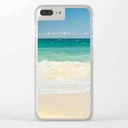 beach blue Clear iPhone Case