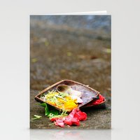 hindu Stationery Cards featuring Bali - Hindu Prayer Offering by gdesai