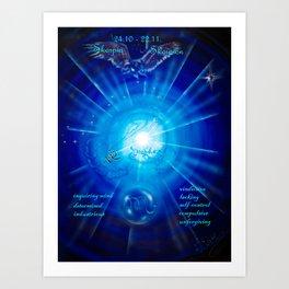 Zodiac sign Skorpio 3 Art Print