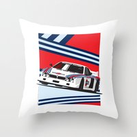 Lancia Beta Montecarlo Throw Pillow
