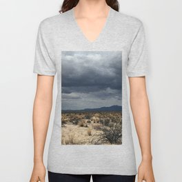 California desert under the clouds Unisex V-Neck