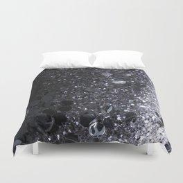Black and Gray Glitter Bomb Duvet Cover