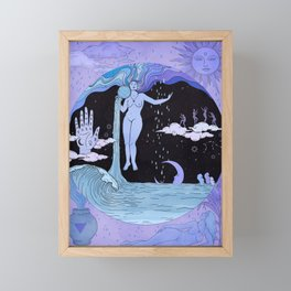 THE WATER MAGICIAN Framed Mini Art Print