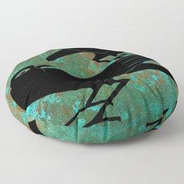 Odin's Ravens Huginn and Muninn Floor Pillow