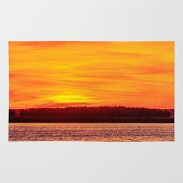 Fiery sunset on the Pike lake Rug