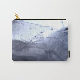 Tiny Snowflakes on Ice Carry-All Pouch