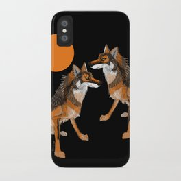 Iberian wolves and the sun (c) 2017 iPhone Case