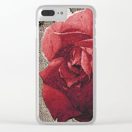 ROSE TALK Clear iPhone Case