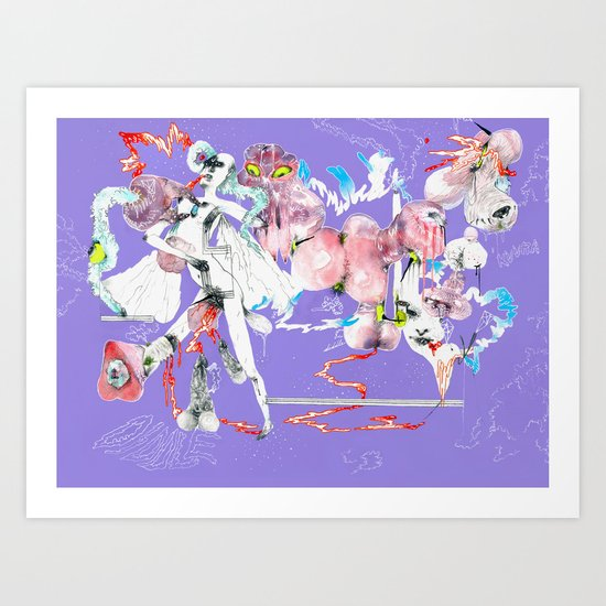 ONLY POSSESSED GIRLS DIDDLE Art Print
