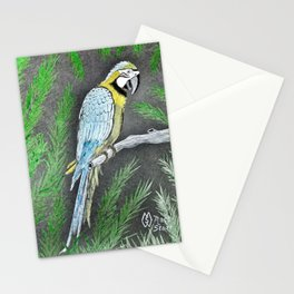 Macaw Parrot Deep in the Jungle  Stationery Cards