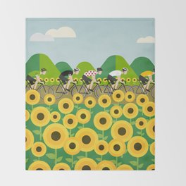 Le Tour I Throw Blanket
