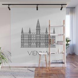 Town Hall Vienna Austria Black and White Wall Mural