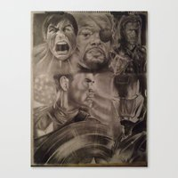 young avengers Canvas Prints featuring Avengers by Brown Boy Art