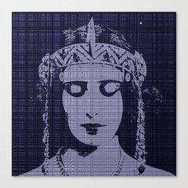 Belle of the Art Nouveau era,Beautiful,elegant,mystique,chic,purple, Canvas Print