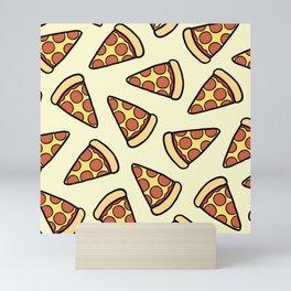 Pepperoni Pizza Pattern Mini Art Print