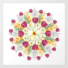 Bali Inspired Nature Mandala Art Print