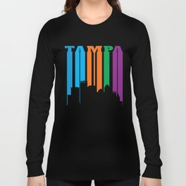 Tampa in Silhouette Long Sleeve T-shirt