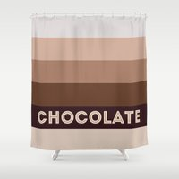 chocolate Shower Curtains featuring Chocolate by 16floor