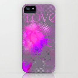 Abstract Love2 iPhone Case