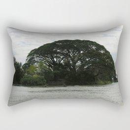 Majestic Beautiful Tree on the Mekong River Rectangular Pillow