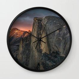 Half Dome Sunset 2 Wall Clock