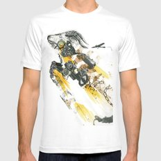 Cult of the Fast Machine White MEDIUM Mens Fitted Tee