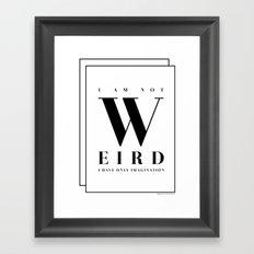 Weird Framed Art Print