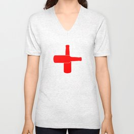 Red Beer Cross Unisex V-Neck