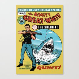 The Amity Great White Canvas Print