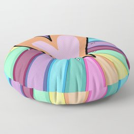 Colorful heart Floor Pillow