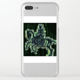 Riding The Matrix Clear iPhone Case