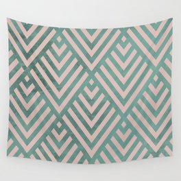 ROMBI PINK & GREEN Wall Tapestry